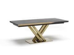 Tavolo da pranzo rettangolare in acciaio e legnoATHENA | Tavolo - ALTA CORTE