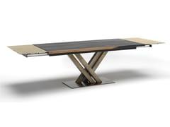 Tavolo allungabile da pranzo rettangolare in acciaio e legnoATHENA | Tavolo allungabile - ALTA CORTE