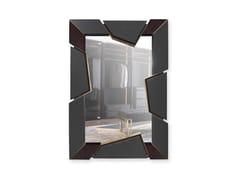 Specchio rettangolare in pelle da pareteATHOS - LUXXU