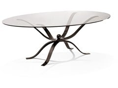 Tavolo ovale in vetro ATLANTE | Tavolo ovale -