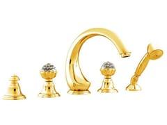 Set vasca a 5 fori con cristalli Swarovski® ATLANTICA | Set vasca con cristalli Swarovski® - Atlantica