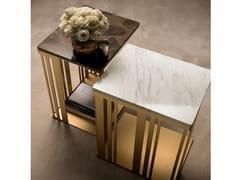 Tavolino di servizio rettangolare in marmoATMOSFERA | Tavolino - ADORA