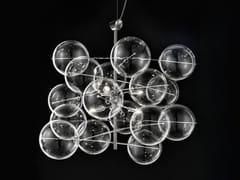 Lampada a sospensione in cristallo ATOM Ø 60 - Atom