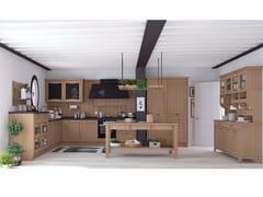 Cucina componibile in legno massello con maniglieAUREA NEW FOLK - CREO KITCHENS BY LUBE