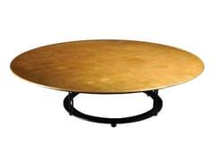 Tavolino basso rotondo foglia oro da salotto AUREOLA | Tavolino da salotto - Aureola