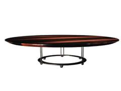 Tavolino basso rotondo in ebano da salotto AUREOLA | Tavolino - Aureola