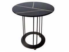 Tavolino laccato rotondo da salotto AUREOLA | Tavolino laccato - Aureola