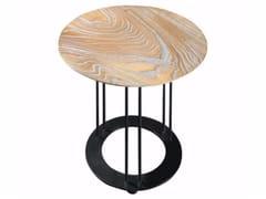 Tavolino rotondo in rovere da salotto AUREOLA | Tavolino in rovere - Aureola