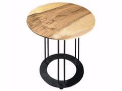 Tavolino rotondo in noce da salotto AUREOLA | Tavolino in noce - Aureola