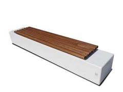 Panchina senza schienale in calcestruzzo armato e legnoAURIGA | Panchina senza schienale - CALZOLARI