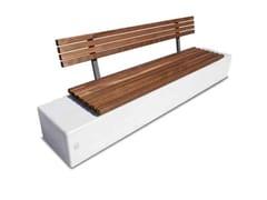Panchina con schienale in calcestruzzo armato e legnoAURIGA | Panchina con schienale - CALZOLARI