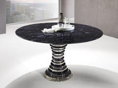 Tavolo rotondo in Crystal Stone® e acciaioAURIGA | Tavolo rotondo - BALLARINI