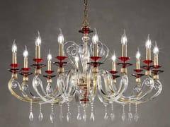 Lampadario in cristallo con cristalli Swarovski® AURORA L12 - Aurora