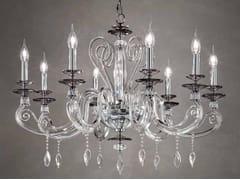 Lampadario in cristallo con cristalli Swarovski®AURORA L8 - EUROLUCE LAMPADARI