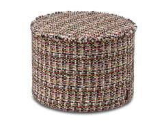 Pouf cilindro in tessuto jacquard lana-cotone effetto tweedAUSTIN - MHOME
