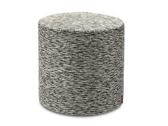 Pouf cilindro in tessuto jacquard flame retardantAVARUA | Pouf - MHOME