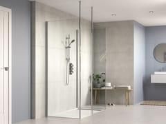 Flair Showers, AYO 3 lati con supporto da lungo vetro Box doccia con tre pannelli in vetro e barra stabilizzatrice
