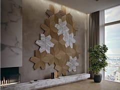 Boiserie tridimensionale in legno e marmoAZALEA 3D - ARTE BROTTO MOBILI