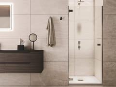 Box doccia a nicchia con porta a battenteAZURE - 7 - INDA®
