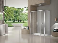 Box doccia rettangolare NATURA 4000 - A-S4 - Quadra – con profili verticali e orizzontali