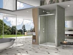 Box doccia a nicchia con porta scorrevole NATURA 4000 - A-ST2N L/R - Quadra