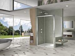 Box doccia rettangolare con porta scorrevole NATURA 4000 - AR-ST2W / A-ST2W - Quadra