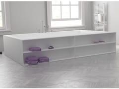 Vasca da bagno centro stanza rettangolare in Corian® su misuraB-FLAT | Vasca da bagno centro stanza - RILUXA