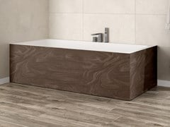 Vasca da bagno rettangolare in Corian® su misuraB-ROUND   Vasca da bagno - RILUXA