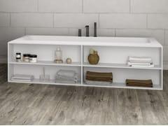 Vasca da bagno rettangolare in Corian® su misuraB-ROUND   Vasca da bagno su misura - RILUXA