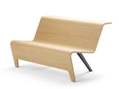 Panca modulare in legno con schienaleBACK   Panca in legno - SELLEX