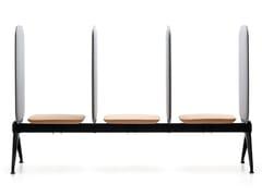 Seduta su barra a 3 posti con pannelli fonoassorbentiVIVA BENCH | Seduta su barra senza schienale - VAGHI
