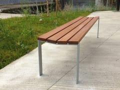 Panchina in legno senza schienaleHARPO | Panchina senza schienale - URBIDERMIS