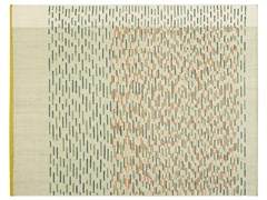 Tappeto fatto a mano rettangolare in lana a righeBACKSTITCH BUSY GREEN - GAN BY GANDIA BLASCO