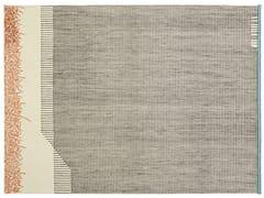 Tappeto fatto a mano rettangolare in lana a righeBACKSTITCH CALM BRICK - GAN BY GANDIA BLASCO