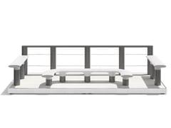 Tavolo per spazi pubblici in acciaioBAIA - PARKLET C - METALCO