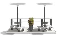 Tavolo per spazi pubblici in acciaio con coperturaBAIA - PARKLET H - METALCO