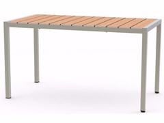 Tavolo da giardino rettangolare in acciaio inox e legnoBALTIC | Tavolo rettangolare - ADICO