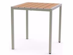 Tavolo da giardino quadrato in acciaio inox e legnoBALTIC | Tavolo quadrato - ADICO