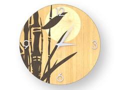 Orologio da parete in legno intarsiatoBAMBOO WARM | Orologio - LEONARDO TRADE