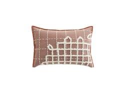 Cuscino rettangolare ricamato a mano in lana BANDAS A | Cuscino - Bandas