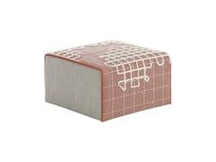 Pouf imbottito in tessuto BANDAS A | Pouf quadrato - Bandas