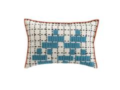 Cuscino rettangolare ricamato a mano in lana BANDAS C | Cuscino - Bandas