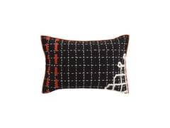 Cuscino rettangolare ricamato a mano in lana BANDAS D | Cuscino - Bandas