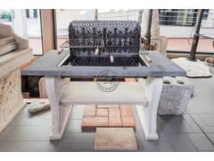 Barbecue a carbonella in travertinoBarbecue 19 - GARDEN HOUSE LAZZERINI