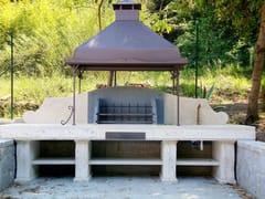 Barbecue in travertinoBarbecue 2 - GARDEN HOUSE LAZZERINI