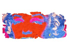 Tappeto fatto a mano in seta di bambù BARIVIERRA ICE CUT PR 031A - Henzel Studio Heritage: Andy Warhol / Art Rugs