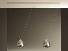 Lampada a sospensione a LED in vetro borosilicatoBARRA X2 LILIUM - ALBUM ITALIA