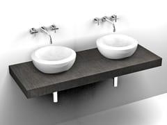 Mobile lavabo doppio sospeso in laminatoBASE | Mobile lavabo sospeso - GRUPPO P&G