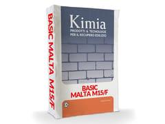 Malta a base di calce idraulica naturale, fibrorinforzataBASIC MALTA M15/F - KIMIA