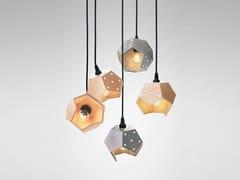 LAMPADA A SOSPENSIONE MODULARE IN LEGNO E CEMENTOBASIC TWELVE QUINTET | LAMPADA A SOSPENSIONE - PLATO DESIGN
